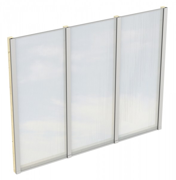 Skan Holz Polycarbonat-Seitenwand 243 x 200 cm, für freistehende Leimholz-Terrassenüberdachungen