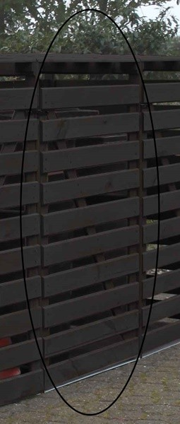 Promadino Erweiterungsbox für Mülltonnenbox Vario V, anthrazit