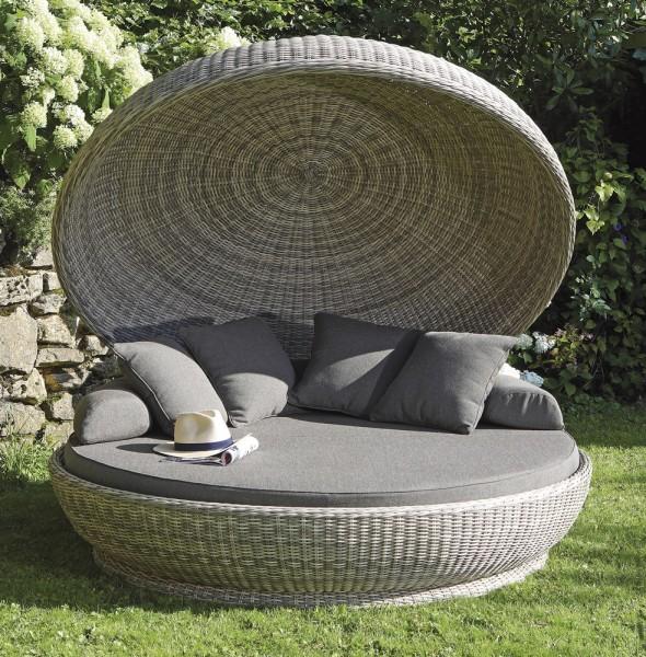 Sonnenpartner Lounge-Insel Oyster Kunststoffgeflecht, white-coral