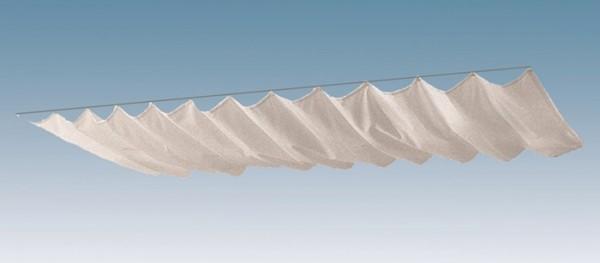 Skan Holz Sonnensegel-Set für Terrassenüberdachungen 434 x 400/389/357 cm, weiß
