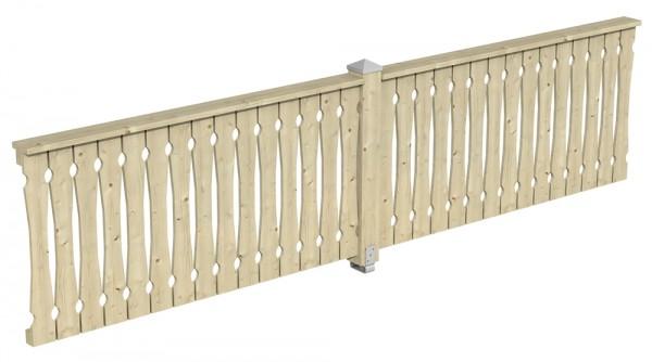 Skan Holz Brüstung 400 x 96 cm, Balkonschalung, für Pavillons Cannes und Orleans Größe 3