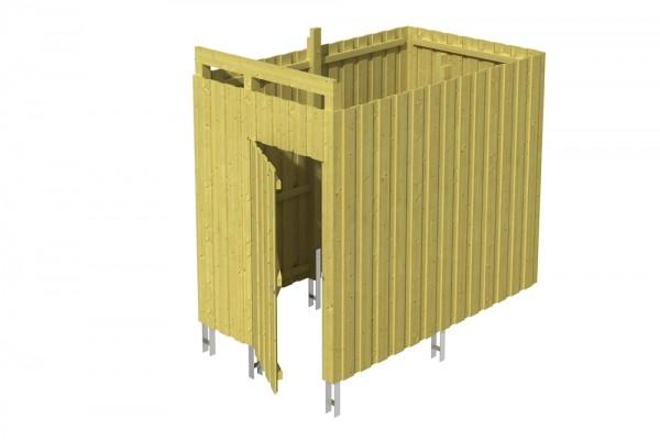 Skan Holz Abstellraum A7, impr. Nadelholz, Deckelschalung, 275 x 164 cm