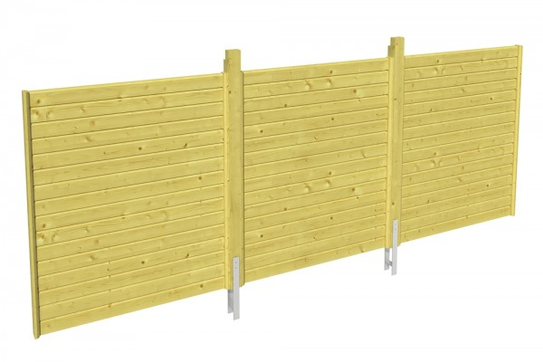 Skan Holz Rückwand 550 x 200 cm, Profilschalung, imprägniertes Nadelholz