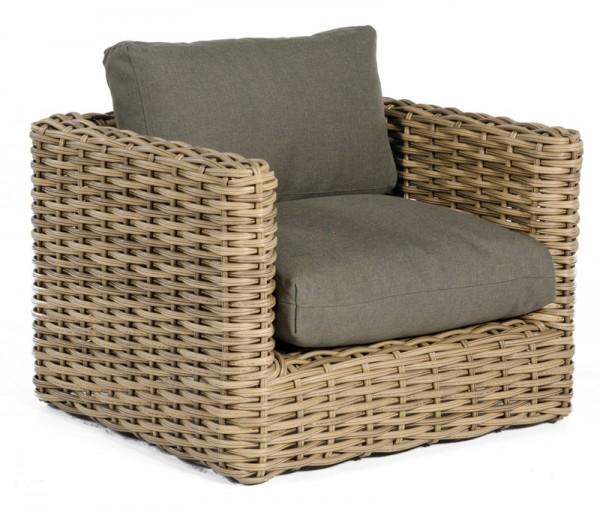 Sonnenpartner Lounge-Sessel Sands, Aluminium / Kunststoffgeflecht Light Oaks, inkl. Kissen