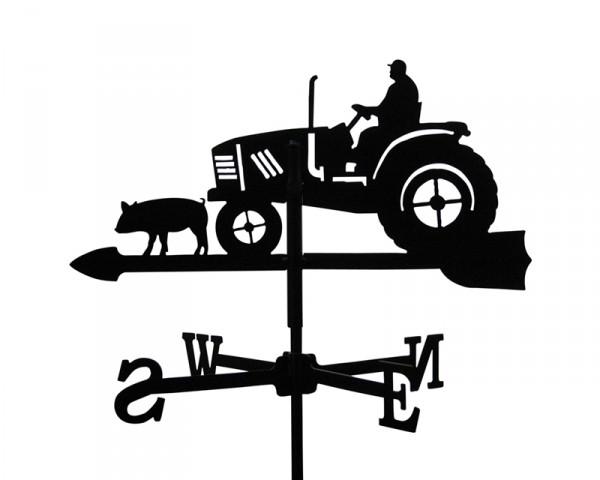 SvenskaV Wetterfahne Traktor klein, schwarz