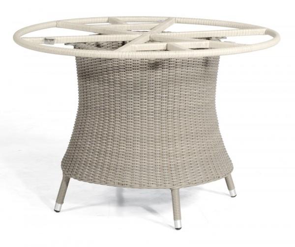 Sonnenpartner Tisch Base-Polyrattan rund, Kunststoffgeflecht stone-grey, Ø 134 cm