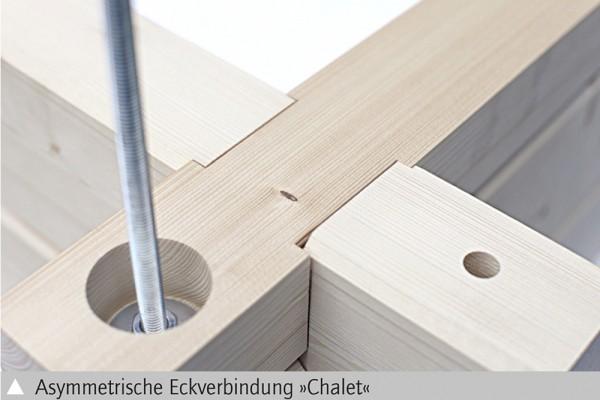 Skan Holz Gartenhaus Calgary, 380 x 300 cm, 45plus, unbehandelt