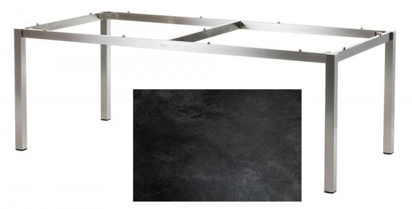 Diamond Garden Tisch San Marino, Edelstahl/Schiefer, 200 x 100 cm