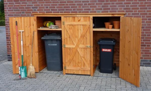 Abgebildete Garten-Utensilien und Mülltonnen nicht im Lieferumfang enthalten.