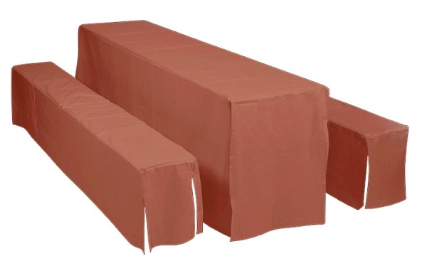 Doppler Hussenset für Festzeltgarnituren mit Tischbreite 50 cm, terra