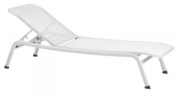 Diamond Garden Liege Kingston, Aluminium/Batyline®-Textilene, weiß