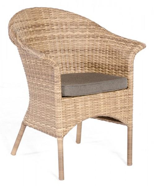 Sonnenpartner Sessel Cayman, Kunststoffgeflecht, natura-antik, inkl. Sitzkissen