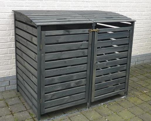 Promadino Mülltonnenbox Vario III für 2 Tonnen, anthrazit