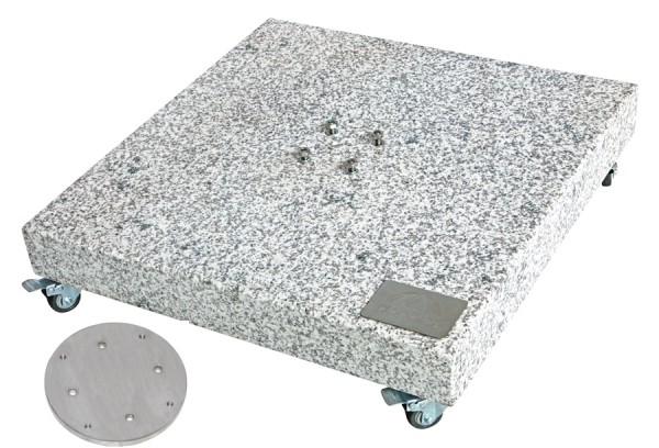 Doppler Granitplatte mit Adapterplatte für Pendelschirme, rollbar, 140 kg