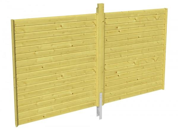 Skan Holz Rückwand 355 x 200 cm, Profilschalung, imprägniertes Nadelholz