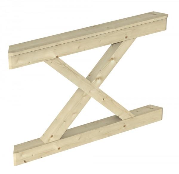 Skan Holz Brüstung 120 x 84 cm, Andreaskreuz, für Pavillon Nancy Größe 1