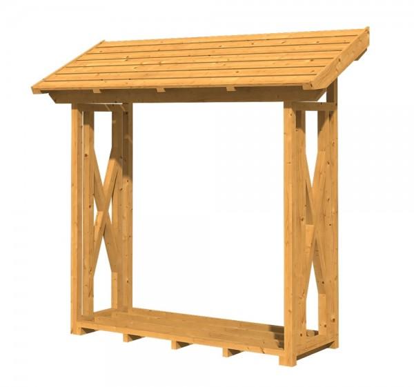Skan Holz Holzunterstand Paul 1, 240 x 88 cm, Douglasie